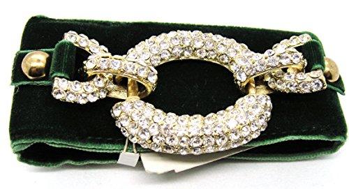 M. Haskell Gold-Tone Crystal Pavé Bracelet
