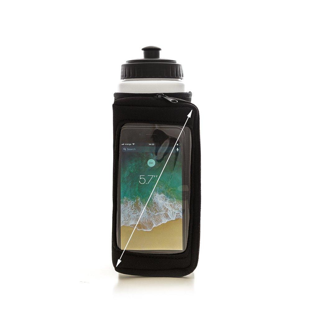 64575a25a8 PASSU Sports Handheld Running Water Bottle Holder | Neoprene Water-Proof  Hydration Pack | Touchscreen Zipper Pocket Fits All Smartphones | Sweat  Wristband ...