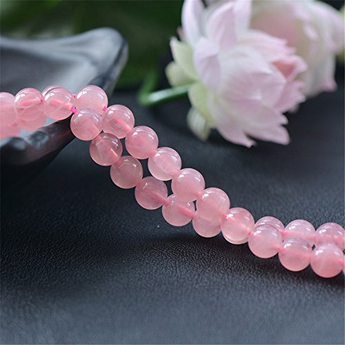 Grade AAA Natural Madagascar Rose Quartz Beads NOT Dyed 6mm-14mm Smooth Polished Round 15 Inch Strand RZ16