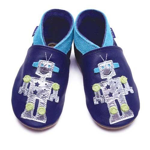 Inch Blue - 1442 M - Chaussures Bébé Souples - Little Robot - Bleu Marine - T 19-20 cm