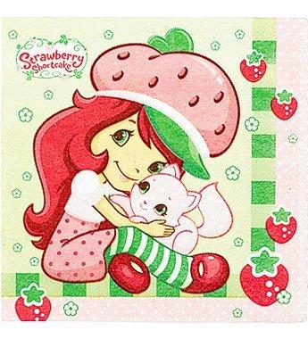 Strawberry Shortcake Lunch Napkins - Strawberry Shortcake Lunch Napkins - 16 Counts