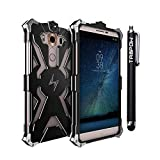 LG V10 Case, TabPow Warrior Series - Aluminum CNC Shockproof Hard Case [Lightning Flash Transformer Case] [Screws & Screw driver Included] For LG V10, Black