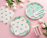 Blue Panda Pineapple Party Supplies Pack Plates