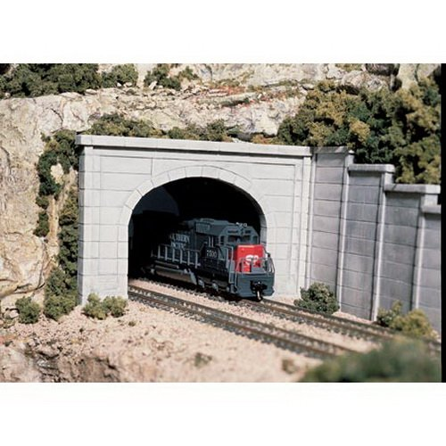 Woodland Scenics C1256 HO Concrete Double Tunnel Portal by Woodland Scenics
