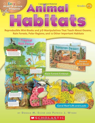 Easy Make & Learn Projects: Animal Habitats: Reproducible Mini-Books and 3-D Manipulatives That Teach About Oceans, Rain Forests, Polar Regions, and 12 Other Important Habitats