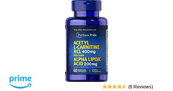 Amazon Com Puritan S Pride Acetyl L Carnitine Free Form 400 Mg With