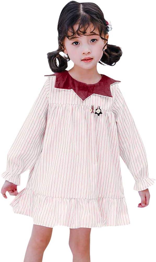 ASHOP Vestidos niña 4 años Faldas Cortas Amarillas Vestido de ...