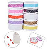 NBEADS 10 Rolls Mixed Color DIY Photo Corners Self Adhesive Picture Mounting Corner Stickers for DIY Scrapbooking, Picture Album, Personal Journal, Diary and More