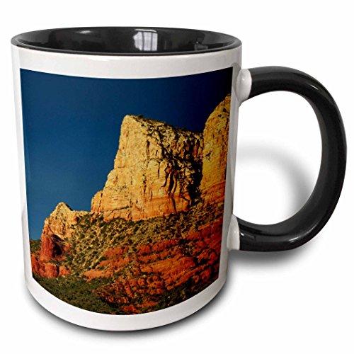 3dRose Danita Delimont - Arizona - Court House Butte at Sunset Sedona, Arizona, USA - US03 MHE0009 - Michel Hersen - 15oz Two-Tone Black Mug (mug_142465_9)