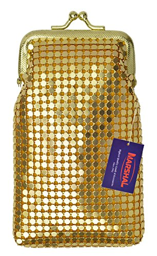 New Design Sequin Cigarette Soft Mesh 100s 120 S Cigarette Case By Marshal (Gold) ()