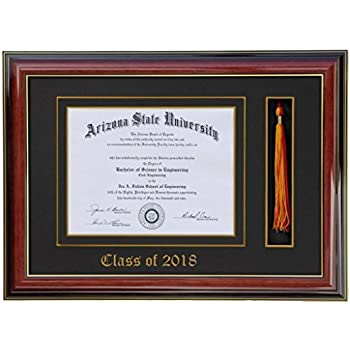 Amazon.com - Diploma Tassel Frame 11x8.5 Brandy 2018 (Customizable ...