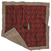 Carstens Red Plaid Bear Baby Blanket