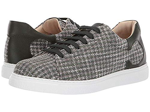 Canali Men's Houndstooth Sneaker Green 42.5 M (Best Canali For Men)