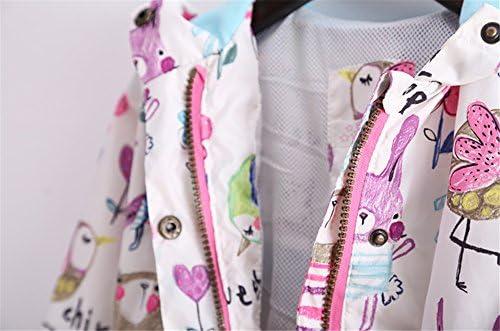 1df6162831548 WIN 花柄 ウインド ブレーカー フード ジャケット カッパ レイン コート 長袖 女の子 子供服 スプリングコート