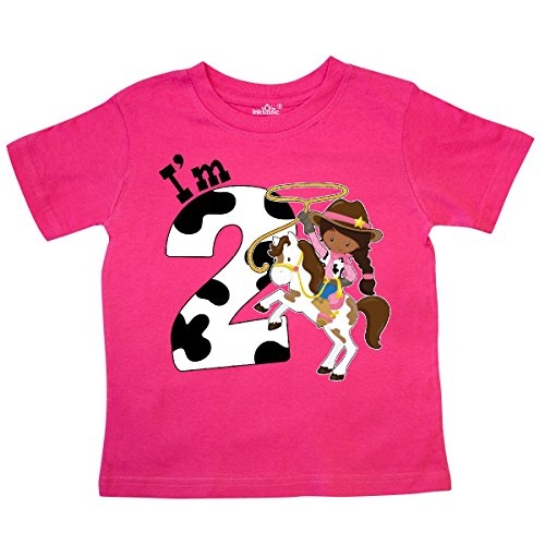 Cowgirl Dark T-shirt (inktastic Im Two-Cowgirl Riding Horse Birthday Toddler T-Shirt 2T Hot Pink)