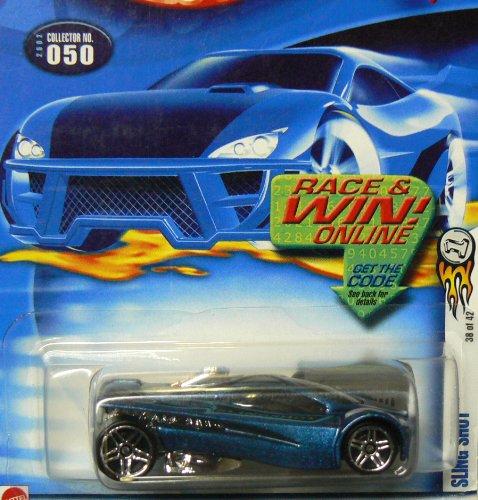 Mattel Hot Wheels 2002 1:64 Scale Blue Sling Shot Die Cast Car #050