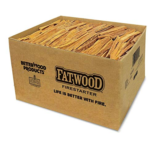 Better Wood Products Fatwood Firestarter Box, 25-Pounds (Wood Burners Kindle)