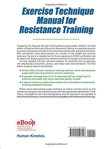 Exercise technique manual for resistance training 3rd edition with exercise technique manual for resistance training 3rd edition with online video nsca national strength conditioning association 9781492506928 books fandeluxe Images