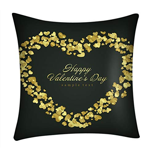 - Throw Pillow Cover, DaySeventh Valentine's Day Print Pillow Case Polyester Sofa Car Cushion Cover Home Decor 18x18 Inch 45x45 cm