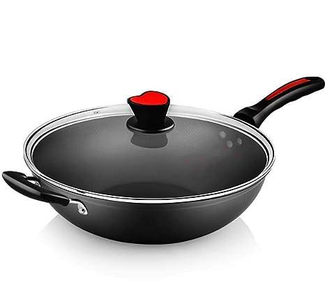 Wok Antiadherente Olla De Gas Estufa De Gas Cocina Wok Gas Estufa,32