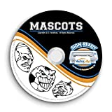 Sports Mascots Clipart-Vector Clip Art-Vinyl Cutter Plotter Images-T-Shirt Graphics CD