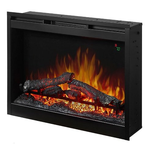 Wesco DFR2651L Black Dimplex Electric Fireplace