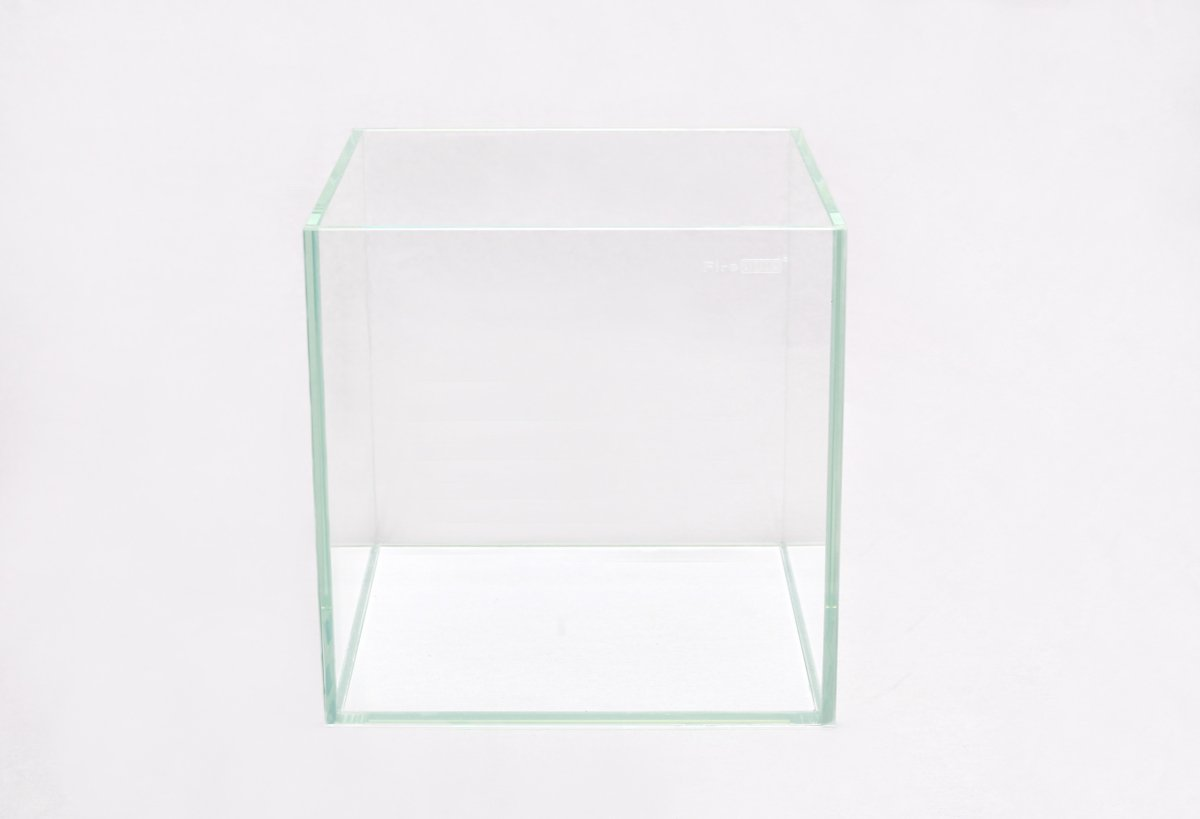 Set FireAqua 64 Liter Cube Weißglas schwarz