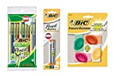 BIC ECOlutions Mechanical Pencil, Medium Point (0.7mm), Black, 10 Pencils with Lead and Erasers (Bundle)