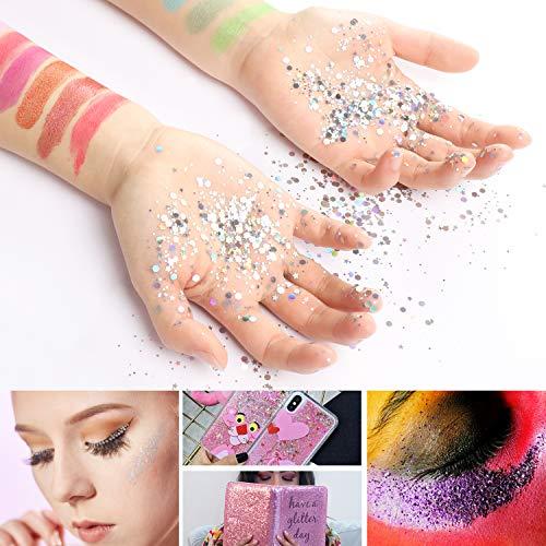 MENNYO Mica Powder 30 Colors (10g/0.35oz, Total 300g/10.5oz), Natural Pigments Glitter Epoxy Resin Dye for Soap Making, Bath Bomb, Candle, Cosmetic Eyeshadow, Makeup, Nail Polish, Slime, Paint