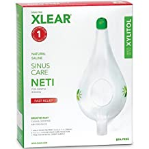 XLEAR Neti Pot with Xylitol and Saline Solution, 1 Count