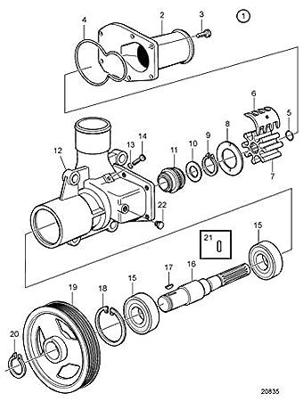 Amazon Com Poseidon Marine Sea Water Pump Repair Kit For Volvo