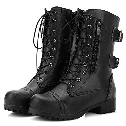 COOLCEPT Classic Zipper Boots Damen Schwarz rHxwrf7
