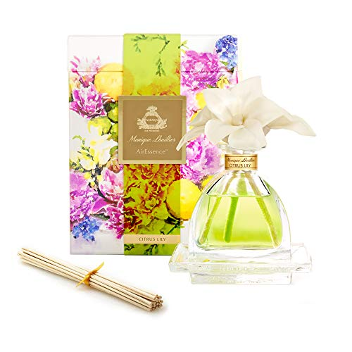 AGRARIA AirEssence Luxury Diffuser Citrus Lily Scent Includes 3 Sola Flowers and 20 Reeds 7.4 Ounces