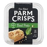 ParmCrisps 100% Cheese Crisps Keto Friendly, Gluten Free, 3 Ounce Tub (Pack of 12) (Basil Pesto)