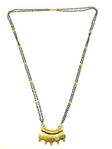 968d02c1b86fc Buy Digital Dress Women's Jewellery Gold Plated Mangalsutra Necklace ...
