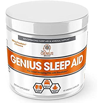 Genius Sleep AID – Smart Sleeping Pills & Adrenal Fatigue Supplement, Natural Stress, Anxiety & Insomnia Relief - Relaxation Enhancer and Mood Support ...