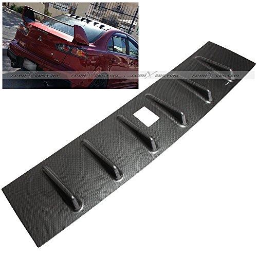 2008-2015 Mitsubishi Lancer DE / ES / GTS MR Style Shark Fin Vortex Generator Carbon Looks Roof Spoiler (Mr Vortex Generator)