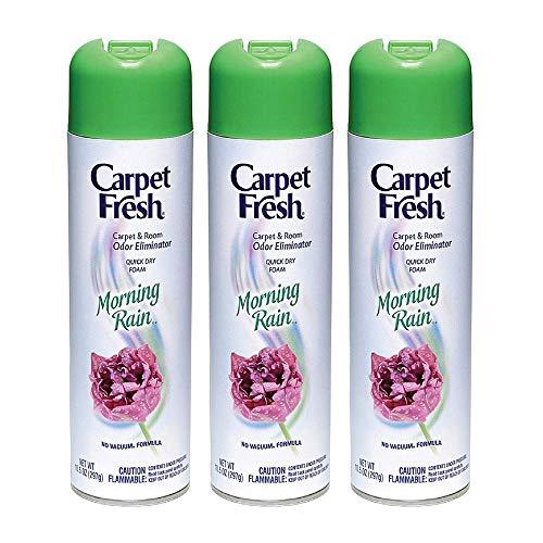 Carpet Fresh No Vacuum Foam Carpet Refresher, Morning Rain 10.50 oz (Pack of 3)