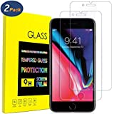 iPhone 8 Plus, 7 Plus Screen Protector,Tempered Glass 0.26 mm Ballistic Glass Screen Film 3D Touch Compatible For iPhone 8 Plus 7 Plus (2-Pack) Clear Glass