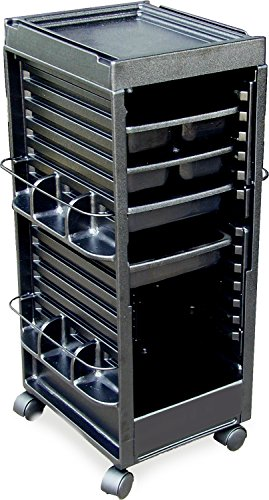 N20 CLASSIC GROOMING TROLLEY ROLLING CART NON LOCKABLE BLACK