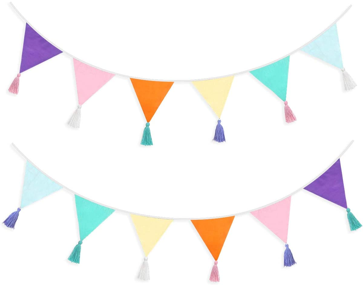 Details about  /1 Set Duck Pennant Linen Flag Layout Props Party Bunting Garland for