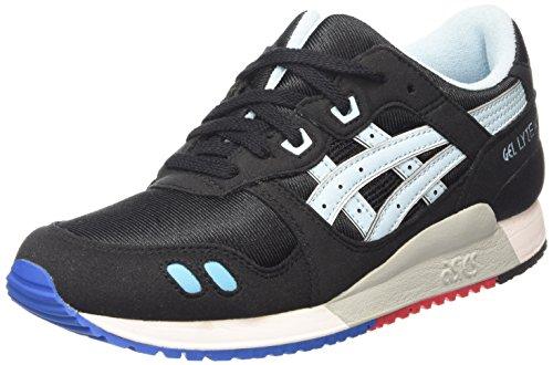 Asics Gel-Lyte III GS, Zapatillas Niños Negro (black/crystal Blue 9040)