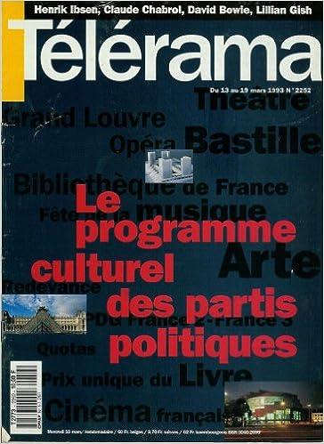Livres gratuits en ligne Télérama - n°2252 - 10/03/1993 - Le programme culturel des partis politiques pdf, epub