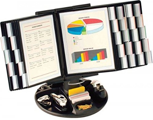Aidata FDS021L-30 Flip and Find Reference Display Document Holder, Black, 30 Panels 60 Pages, Letter Size from Aidata