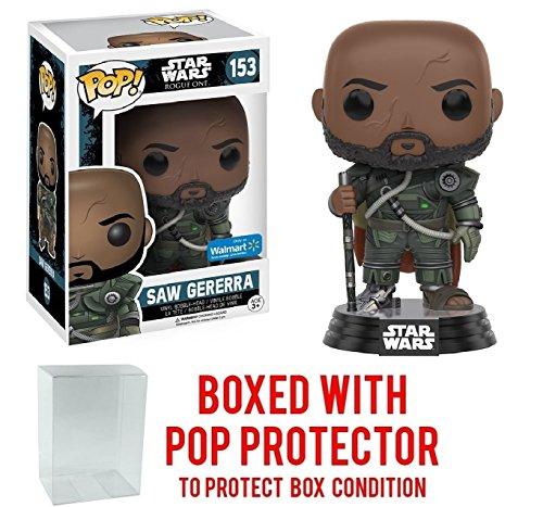 Funko Pop  Star Wars Rogue One Saw Gererra Walmart Exclusive  153 Vinyl Figure  Bundled With Pop Box Protector Case