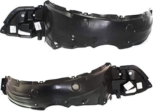 Fender Liner Set Compatible with 2009-2010 Toyota Corolla Front LH /& RH Plastic Pair