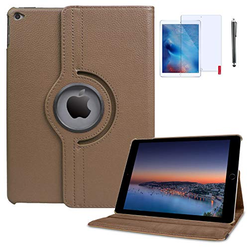 T&X iPad 4th Generation Case with Bonus Screen Protector and Stylus 360 Degree Rotating Stand Protective Hard-Cover Folding Case with Auto Wake/Sleep Feature for 2nd/3rd/4th 9.7