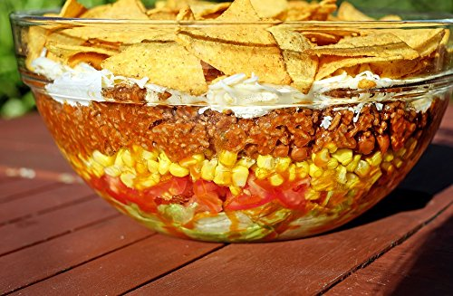(Home Comforts Acrylic Face Mounted Prints Food Taco Salad Sharp Salad Mexican Print 14 x 11. Worry Free Wall Installation - Shadow Mount is Included. )
