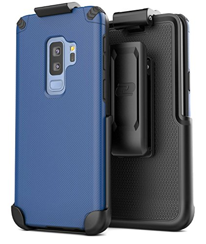 Encased Belt Case for Galaxy S9 Plus - Navy Blue (Nova Series) Slim Protective Grip Case with Swivel Holster Clip (for Samsung Galaxy S9+)