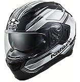 オージーケーカブト(OGK KABUTO)バイクヘルメット フルフェイス KAMUI3 ACCEL(アクセル) フラットブラックホワイト (サイズ:S) 585778